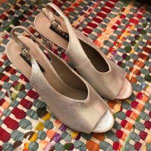 DKNY Sparkly Silver Heels